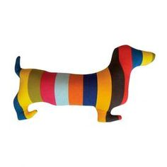 Multicolor cotton canvas pillow in the shape of a dachshund. Product: PillowConstruction Material: Cotton canvas cover and polyester fillColor: MultiFeatures: Insert includedZipper closure Dimensions: 10 x and Care: Spot clean Joss And Main, Dachshund Love, Daschund, Creature Comforts, Do It Yourself Home, Decorative Pillows, Dog Cat, Sewing Projects, Throw Pillows