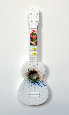Paint splatter ukulele