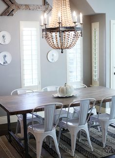 _diningroom modern farmhouse dining table and chairs, metal kitchen chairs, white metal chairs, Modern Farmhouse Dining Table And Chairs, Metal Kitchen Chairs, White Metal Chairs, Rustic Table, Modern Chairs, Fabric Dining Chairs, Dining Table Chairs, Desk Chairs, Lounge Chairs
