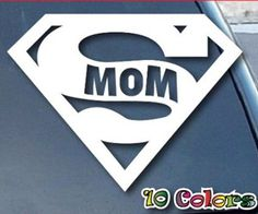 Super #mom Sticker for your #car window - would #love to flaunt - right?