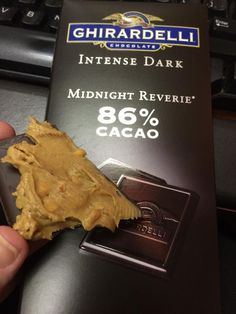 Got a sweet tooth? Dark chocolate & peanut butter is a great combo!