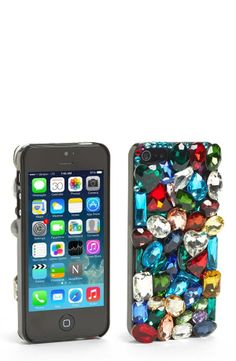 What a gem! Jeweled iPhone 5 case.
