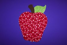 Fabric Applique TEMPLATE ONLY Juicy Apple by etsykim on Etsy, $1.50