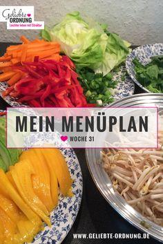 Menüplan / Mealplanning: Rezeptideen für den Juli Planer, Cantaloupe, Menu, Fruit, Food, Vietnamese Summer Rolls, Easy Meals, Cooking, Recipies