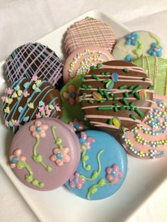 1 Dozen Easter Chocolate Covered Oreos Spring by TheCharmingCookie, $14.95