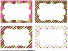 name tags free printables - Buscar con Google