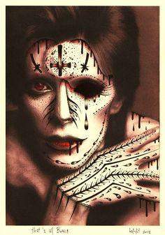 That's all BOWIE limited edition print copy by bafefit, Angela Bowie, Music Artwork, Art Music, Artwork Prints, David Bowie Labyrinth, David Bowie Art, Duncan Jones, Pop Surrealism, Skull Art
