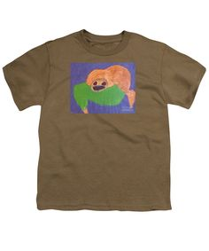 Patrick Francis Designer Youth Safari Green T-Shirt featuring the painting Otter 2014 by Patrick Francis