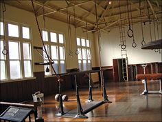 Photo: An old-fashioned gym is part of a museum about ... / LJWorld.com
