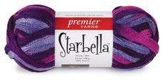 Starbella,learning how to knit with this strange yarn:)