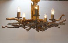Large Driftwood Chandelier,5 light driftwood pendant,Drift Wood Light fitting