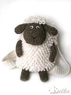 Crochet Cute Kids' Backpacks Like a Pro Using 9 Free Patterns - sheep crochet backpack!