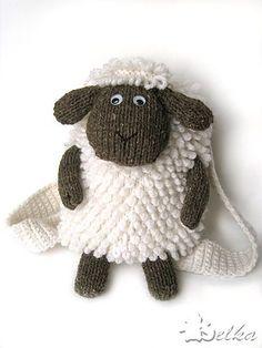 Ravelry: Sheep Backpack by Tatyana Fedorova FREE knitting pattern Crochet Amigurumi, Knit Or Crochet, Crochet For Kids, Crochet Toys, Crochet Baby, Ravelry Crochet, Crochet Sheep, Knitting Patterns Free, Free Knitting
