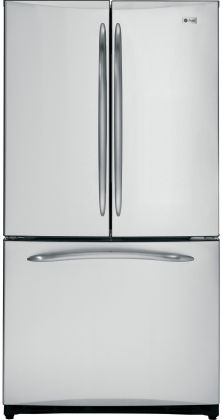 "Images of GE PFCS1NFCSS 36"" 20.7 Cu. Ft. French Door Refrigerator With Icemaker, ClimateKeeper System, Water Filtration System, BrightSpace Interior, Upfront Temperature Controls & In Stainless Steel 