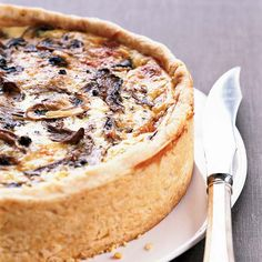 """Over-the-Top Mushroom Quiche   """" love quiche, but it has to be several inches high and made right,"""" says star chef Thomas Keller. This high-rising version, which is adapted from a recipe in his Bouchon cookbook, just might be the perfect one, and it's well worth the time it takes to prepare. Layering the sautéed mushrooms and shredded cheese ensures that they're nicely distributed throughout the silky egg custard."""