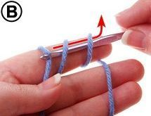 Holding crochet hook in your right hand, insert hook under the two yarn loops and hook the yarn coming from the skein or ball (B) Magic Loop crochet tutorial with photos. Diy Tricot Crochet, Crochet Basics, Knit Or Crochet, Learn To Crochet, Crochet Crafts, Crochet Stitches, Crochet Hooks, Crochet Projects, Crochet Patterns
