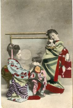 POSTCARD-CARTE-POSTALE-JAPAN-JAPON-GEISHA-CACHET