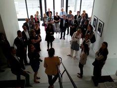 "Insights ""Social Media, Kunst + Finanzen"" am 23.06.2014: Begrüßung im Art Foyer der DZ Bank #smcffm"
