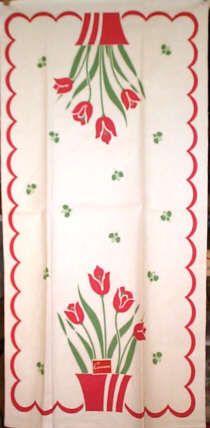 1950s dish towel