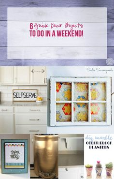 6 Quick Decor Projects to do in a Weekend! - Happily Ever After, Etc.