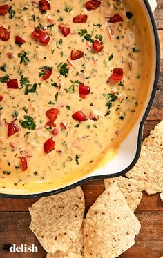 Best Queso Dip - - Queso is the most important part of any game-day. It makes you feel better after your team loses and is the best way to celebrate after a win. Don't let your game-day queso be anything less than the best. Appetizer Dips, Appetizer Recipes, Snack Recipes, Cooking Recipes, Cheese Dip Recipes, Camping Appetizers, Healthy Dip Recipes, Bacon Wrapped Appetizers, Cooking Games
