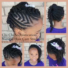 Natural Hair Style: Flat & Double Strand Twist.