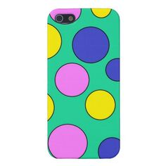 Customizable Teal Colorful Polka Dots Glossy iPhone 5 Case going for $35.95. Check this product out at www.zazzle.com/wonderart*