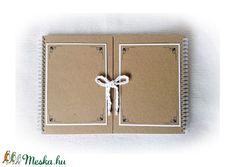 Díszíthető vendégkönyv, esküvői, rendezvény, születésnapi album, emlékkönyv,  - A4, 60 lap-120 oldal (Merka) - Meska.hu Wallet, Paper Board, Purses