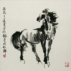 Chinese Horse Painting - Asian Horse Artwork - Asian Artwork