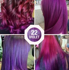 Défilé Violet #modacapelli #violet #hairstyle #rainbowhair