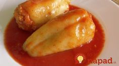 Toto je náš rodinný klenot: Recept na najlepšiu plnenú papriku v dokonalej rajčinovej omáčke! Hungarian Recipes, Thing 1, Food 52, What To Cook, Baked Potato, Cucumber, Sausage, Recipies, Pork