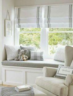 Love window seats.