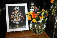 Bosschaert Bouquet - The intensity of colour and texture emulates the two tone varieties often found in Bosschaert's paintings have inspired this bouquet. #NGArtBouquet #Bouquet  #Flowers #Art