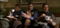 This pic makes me giggle. wasn't sure if i should pin this to humor and/or tv show boards but knew yummy men fit best. esposito (jon), castle (nathan), and ryan (seamus).