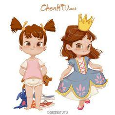 Cartoon Girl Drawing, Cartoon Drawings, Cute Drawings, Little Girl Drawing, Character Design Animation, Character Design References, Kid Character, Character Drawing, Cartoon Kunst