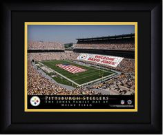 Your Name on a sign in Heinz Field, Your Day at the Stadium.  Great gift for Steelers Fans. Customize with your name on cards held by the fans and make it Your Day at the stadium.