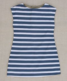 Loving this Navy Allie Stripe A-Line Dress - Infant, Toddler & Girls on #zulily! #zulilyfinds