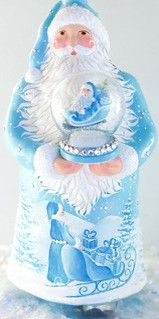 Swirling (Turquoise) Patricia Breen Designs (Turquoise, Pearl/ White, Santa, Sleigh, Sculpture Adornment)