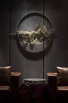 Best Place to find hotel lobby design Asian Interior, Japanese Interior, Modern Interior, Wall Sculptures, Sculpture Art, Hotel Lobby Design, Chinese Design, Chinese Style, Fu Dog