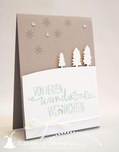 Stampin Up Berlin Weihnachten Minikärtchen Schlittenfahrt Bäume Schnee Wunderbare Weihnachten 05