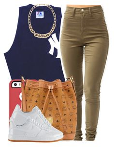 """."" by trillest-queen ❤ liked on Polyvore featuring LOFT, OtterBox, MCM and NIKE"