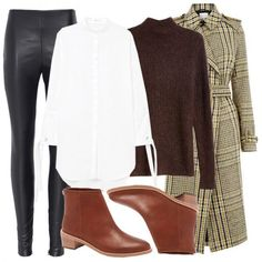Leather leggings add instant edge to an otherwise polished, prim outfit. Pair them with a tailored shirt, sweater and coat for a cool, downtown vibe.