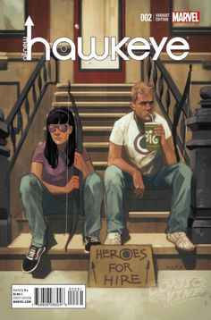 Hawkeye #2 variant cover by Phil Noto *