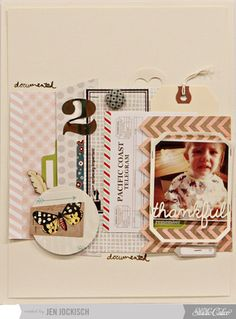 Made with @Studio Calico November kit and add-ons - Sock Hop!!