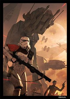 Topps Star Wars-Rogue One 207-Tie-chasseur pilote-Sticker carte
