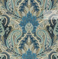Paisley Fabric, Paisley Pattern, Pattern Art, Paisley Print, Blue Fabric, Textile Patterns, Textile Design, Fabric Design, Print Patterns