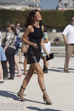 Barbara Martello, PFW. love the muscle tone!!