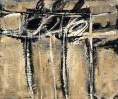 Twombly. Untitled 1951. / Industrial paint on canvas, 86 x 101 cm.