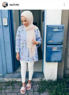 Discover recipes, home ideas, style inspiration and other ideas to try. Hijab Casual, Hijab Style, Hijab Chic, Hijab Outfit, Casual Outfits, Fashion Outfits, Hijab Fashion Summer, Modern Hijab Fashion, Islamic Fashion