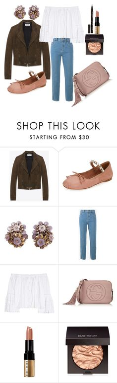 """""""Let the sunshine in"""" by petra0710 ❤ liked on Polyvore featuring Yves Saint Laurent, Miu Miu, Chloé, Carolina Herrera, Gucci, Bobbi Brown Cosmetics, Laura Mercier and Smith & Cult"""